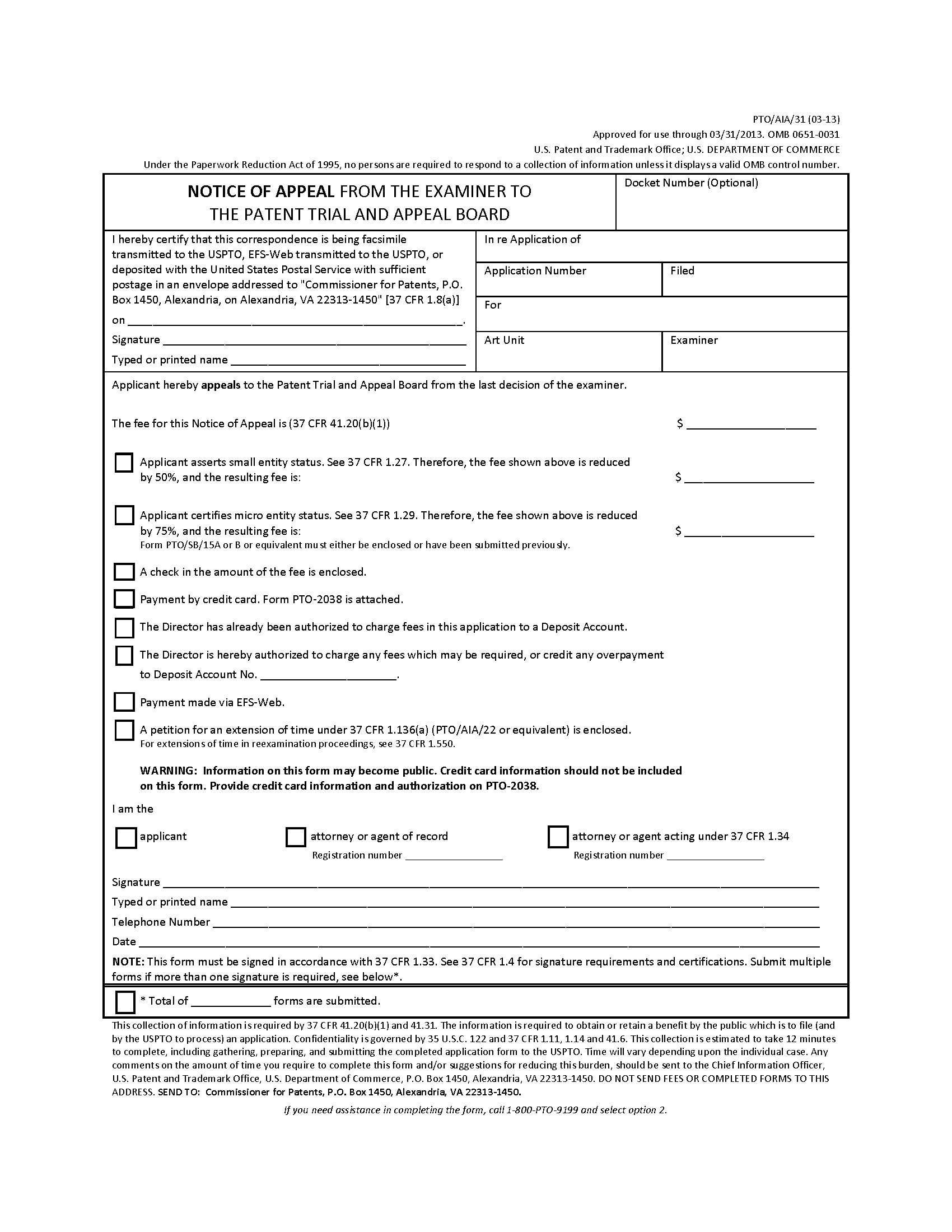 MPEP – Patent Assignment Form