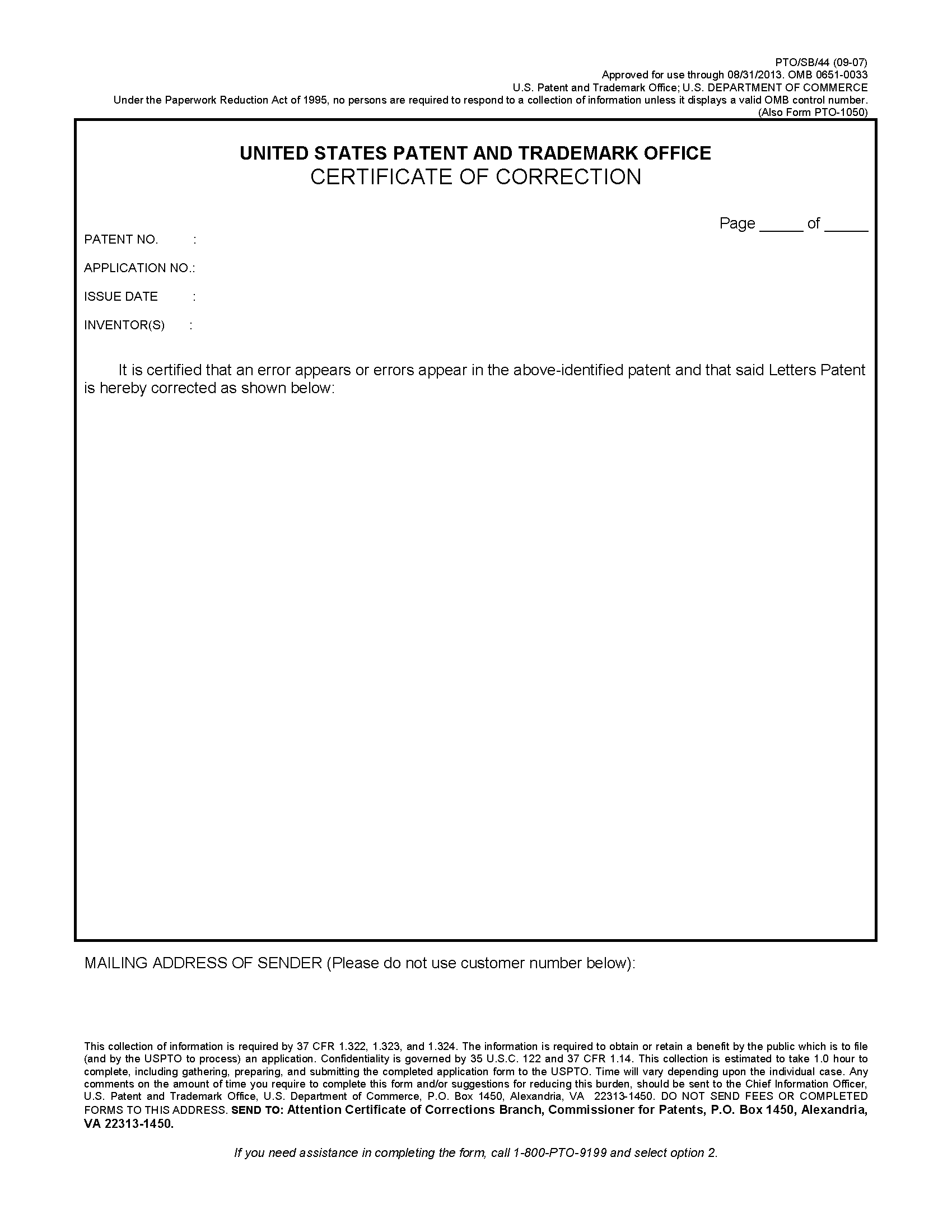 Mpep certificate of correction page 1 yadclub Choice Image